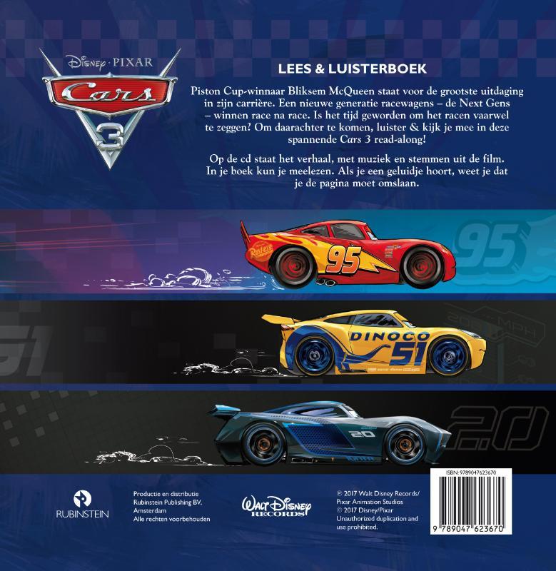 Disney Pixar,Cars 3 Lees & luisterboek