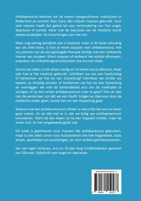 Jan van Ingen Schenau,Antidepressiva