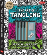 Walter Foster Creative Team The Art of Tangling Drawing Book & Kit