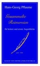 Pflaume, Hans-Georg Gesammelte Reimereien