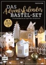 Kühne, Franziska Das Adventskalender Bastel-Set - Mit Papierbogen und Anleitungen