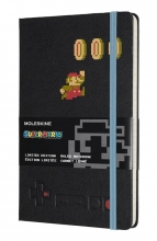 , Moleskine LE Notitieboek Super Mario Notebook Large (13x21 cm) Gelinieerd Mario In Motio