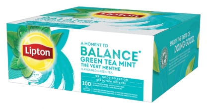 , Thee Lipton Balance Green tea mint 100stuks