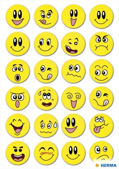 ,Etiket Herma smiley met wiebeleffect