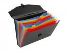 ,documentenmap Viquel Rainbow Class ® A4 PP 12 tabs, 13      vakken