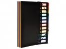 ,Sorteermap Viquel Rainbow Class ® A4 Zwart met 12 assorti   kleuren tabs