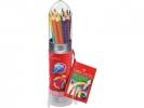 ,kleurpotlood Faber-Castell GRIP raket met 15 stuks assorti