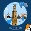 Femke  Veltkamp ,Okapi Bouw je eigen stad Utrecht (set van 5)