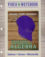 Michael, III Sullivan,   Katherine R. Struve,   Janet Mazzarella Video Notebook for Elementary & Intermediate Algebra