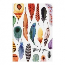 Sarah McMenemy Feathers Parcel Thank You Notecards