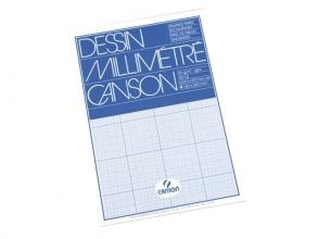 , Millimeterblok Canson A4 blauw