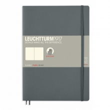 Lt355312 , Leuchtturm notitieboek composition softcover 178x254 mm blanco anthraciet