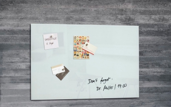 , glasmagneetbord Sigel Artverum 600x400x15mm wit