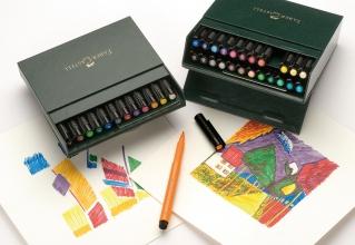 , tekenstift Faber-Castell Pitt Artist Pen Brush 24-delig     Studiobox