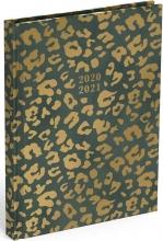 , Schoolagenda 2020-2021 lannoo olive leopard 130x175mm