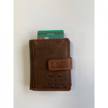 Ma-480.232-33 , Maverick dalian compact cardprotector kleingeldvak/bankbiljet bruin