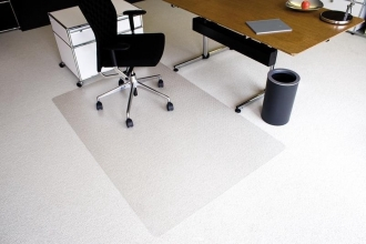 , vloermat Kangaro voor tapijt 120 x 200 cm transparant PET   2,1mm/nop 2,1