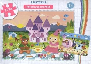 , Prinsessenwereld - puzzel 2 x 24 stukjes
