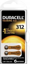, Batterij Duracell Hearing DA312 Ø7,9mm 180mAh 6 stuks