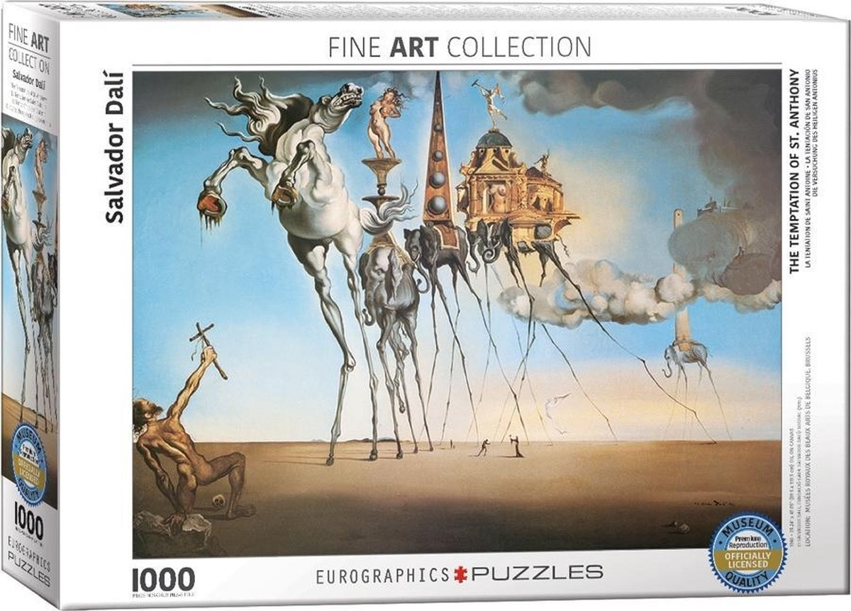 Eur-6000-0847,Puzzel eurograpics the temptation of st. anthony  dali 1000 stuks 48x68 cm