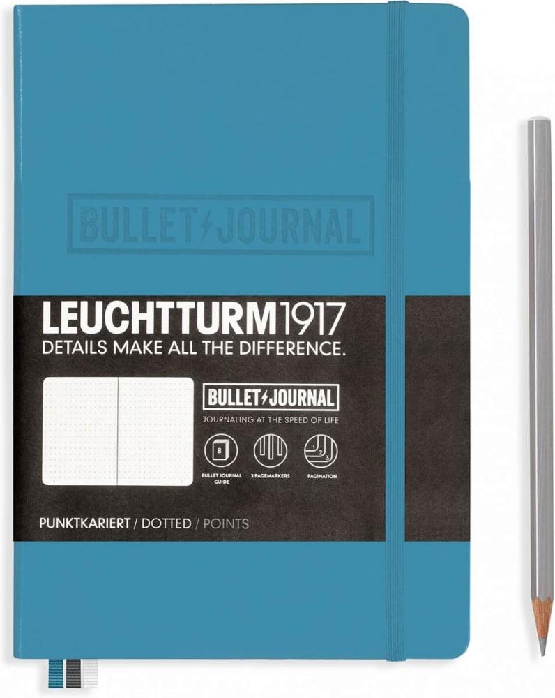 Lt357675,Leuchtturm notitieboek medium bullet journal nordic blue
