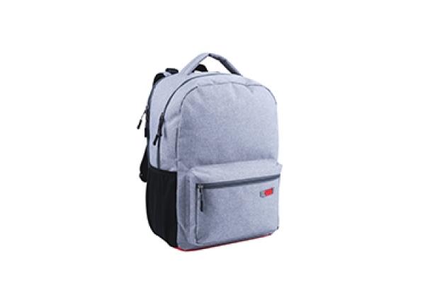 ,Rugzak qc bags 42cm light grey/rosso