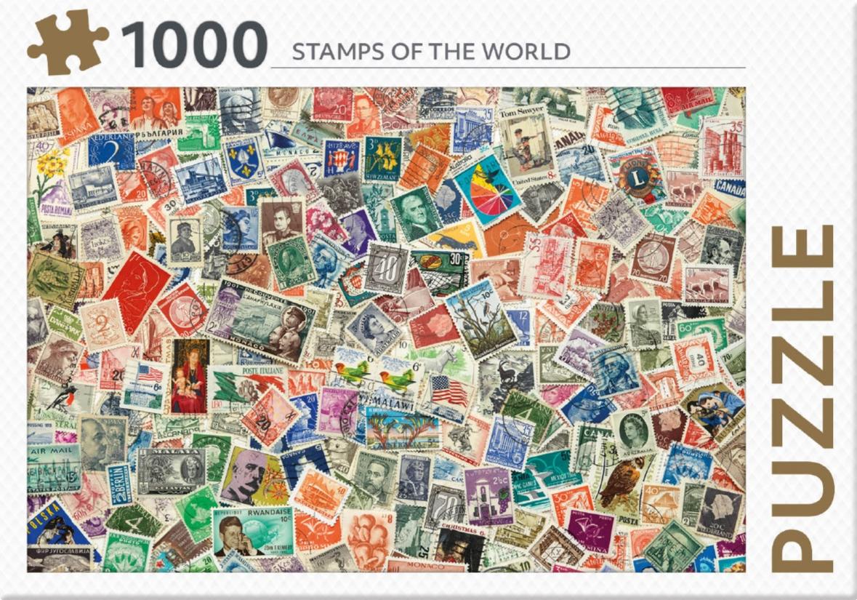 ,Rebo legpuzzel 1000 stukjes - Stamps of the world