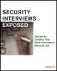 Chris Butler, et al, IT Security Interviews Exposed