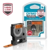 , Labeltape Dymo Durable 1978367 12mmx3m zwart op oranje