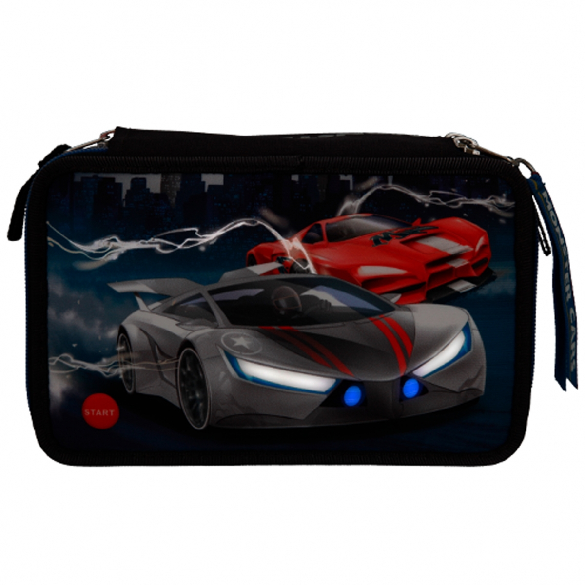 ,Monster cars 3-vaks etui gevuld met led