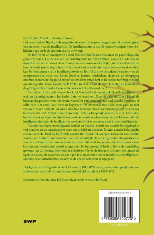 Martine F. Delfos,Het IQ en de intelligentie