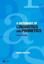 David Crystal A Dictionary of Linguistics and Phonetics
