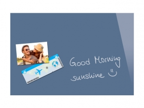 , Glasmagneetbord Be!Board gepoederd blauw 600x400x9mm incl.  2 magneten
