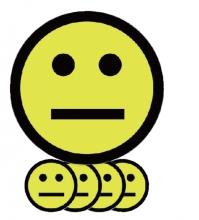 , Magneet smiley 50mm emotie neutraal geel
