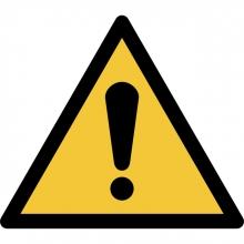 , Pictogram Tarifold algemene waarschuwing 200x176mm
