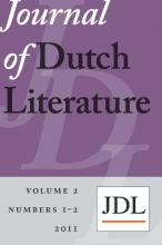 , Journal of Dutch literature 2011