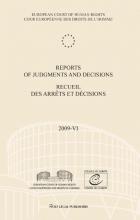 , Reports of judgments and decisions recueil des arrets et decicions 2009-VI
