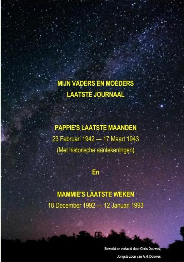 Chris Douwes,MIJN VADERS EN MOEDERS LAATSTE JOURNAAL