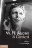 Sharpe, Tony,W. H. Auden in Context