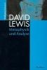 Schwarz, Wolfgang,David Lewis: Metaphysik und Analyse