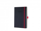,notitieboek Sigel Conceptum RED Edition hardcover A5 zwart  geruit