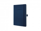 ,notitieboek Sigel Conceptum Pure softcover A5 blauw geruit