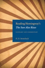 Reading Hemingway`s The Sun Also Rises