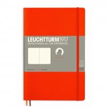 Lt358301 , Leuchtturm notitieboek softcover 19x12.5 cm blanco oranje
