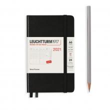 Lt362074 , Leuchtturm agenda 2021 pocket 9x15 9x15 7d2p verticaal zwart