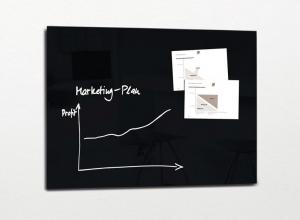 , glasmagneetbord XL Sigel Artverum 1200x900x18mm zwart
