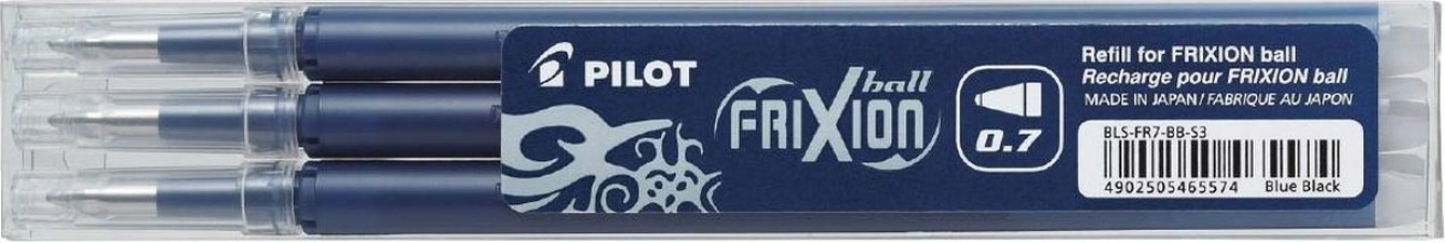 , Rollerpenvulling PILOT Frixion blauw/zwart 0.35mm