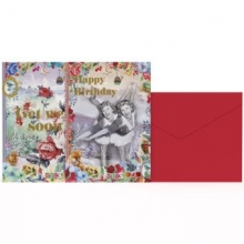 , Notecards 8 stuks met env ginger & bread