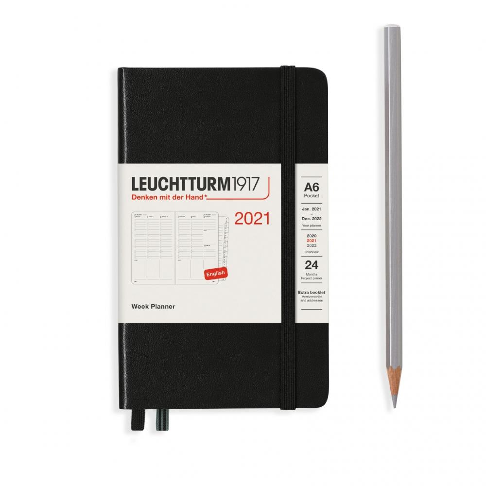Lt362074,Leuchtturm agenda 2021 pocket 9x15 9x15 7d2p verticaal zwart
