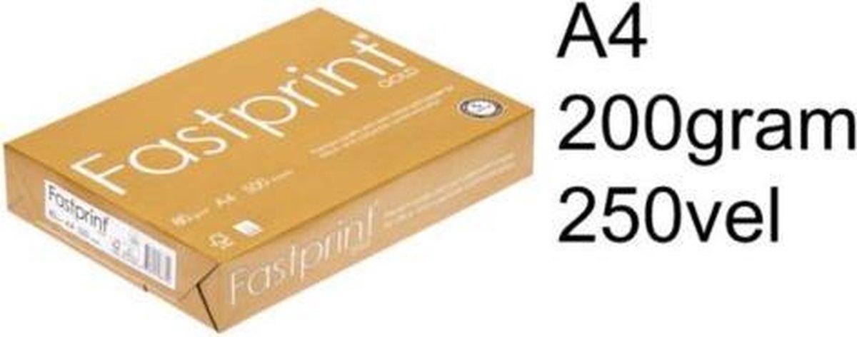 ,Kopieerpapier Fastprint Gold A4 200gr wit 250vel